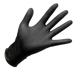 Black Nitrile Gloves-Large