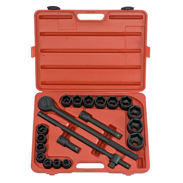 21 Pc 3/4 In. SAE Impact Socket Set