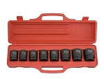 9 Pc 3/4 In. Drive Metric Impact Socket Set