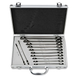 12 Pc Flank Drive Ratcheting Wrench Set