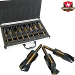 8 pc Jumbo Silver & Deming Drill Bit Set