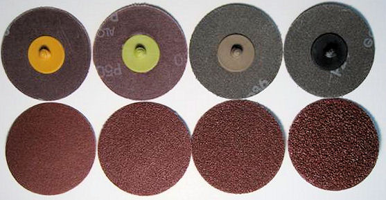 3 in. x 24 Grit Roloc Sanding Disc-25 Pack