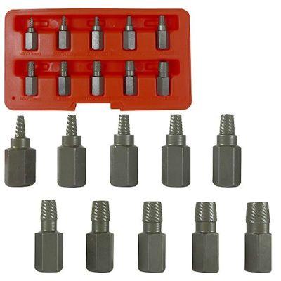 10 Pc Multi Spline Screw Extractor Set Rich Tool Systems