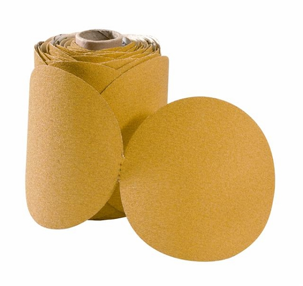 6 in. 80 Grit Gold Stick-On Sandpaper-100 Discs