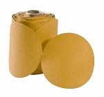 6 in. 220 Grit Gold Stick-On Sandpaper-100 Discs