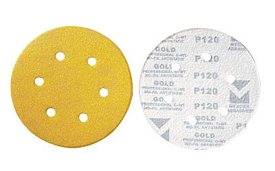 6 in. Hook & Loop Discs-6 Dust Holes