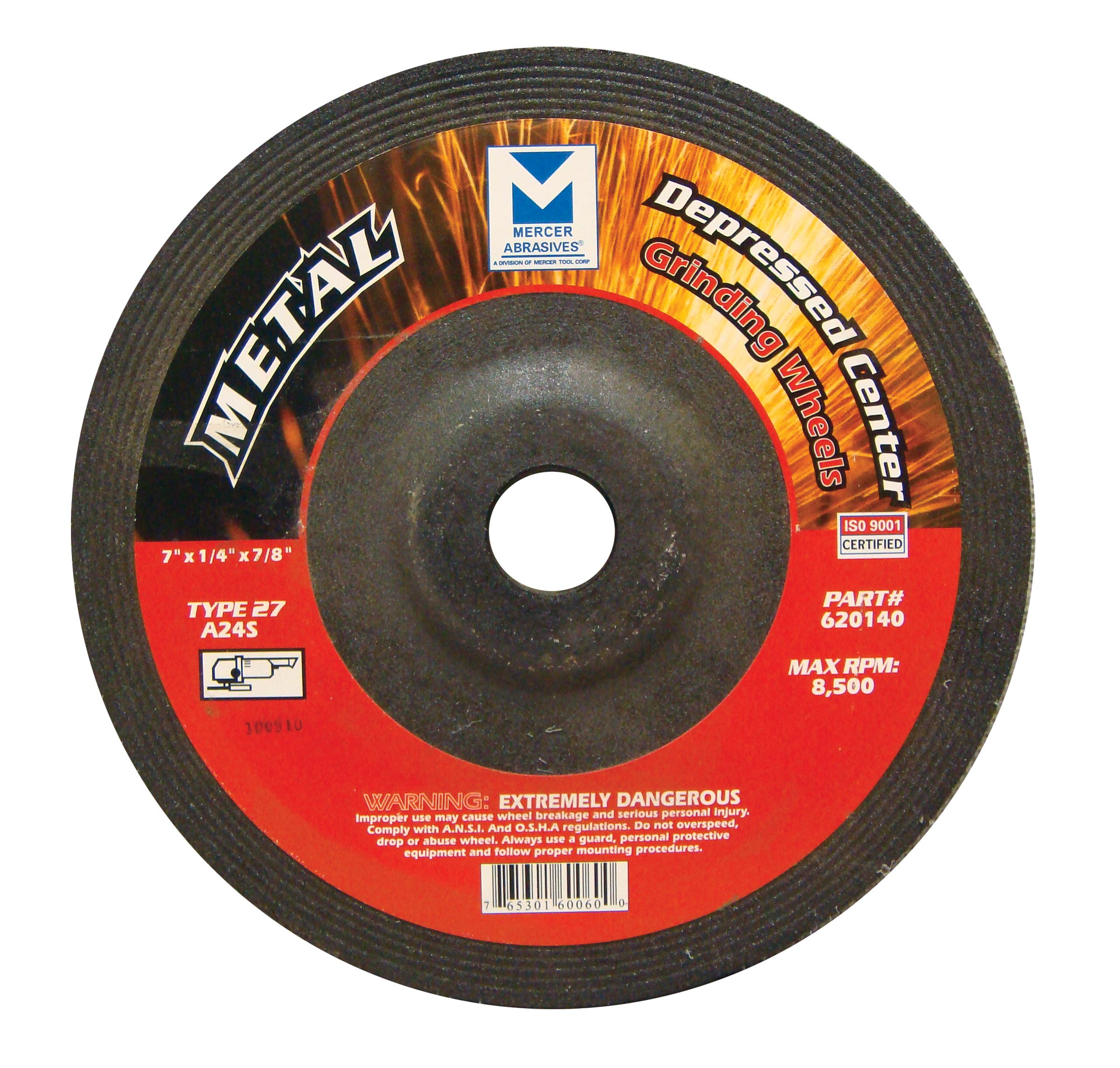 7 in x 1/4 in x 7/8 Grinding Wheel-20 Pack