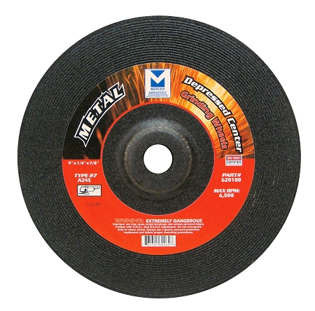 9 in x 1/4 in x 7/8 Grinding Wheel-15 Pack