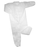 Medium Disposable Coveralls-25 Pieces