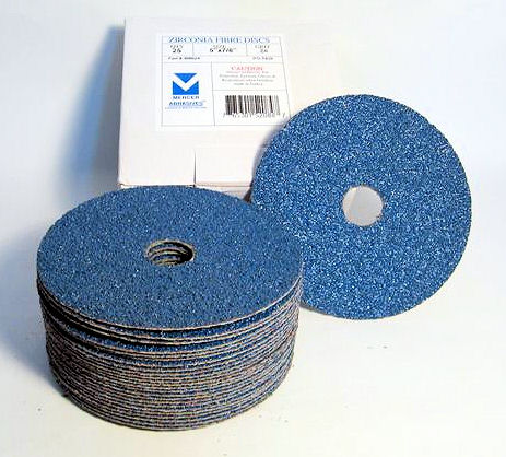 7 in. 36 Grit Zirconium Resin Fiber Discs-25 Pack