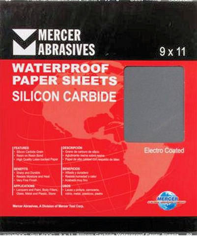9 x 11 x 500 Waterproof Sanding Sheets-50 Pack