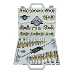 45pc Titanium Tap & Die Set-Metric