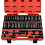 1/2 In. Drive Deep SAE & Metric Impact Socket Set
