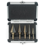 5 pc Step Drill Bit Set-SAE