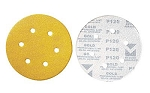 6 In. 100 Grit Hook & Loop Discs-6 Hole
