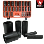 1/2 In. Drive Deep Air Impact Socket Set-Metric