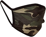 Cotton Face Mask-Green Camo