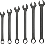 6 Pc Black Oxide Jumbo Wrench Set-SAE