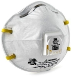 3M Particulate Respirator 8210V With Valve-10 Pack
