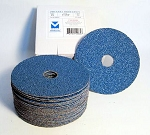 5 in. 50 Grit Zirconium Resin Fiber Discs-25 Pack
