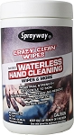 Crazy Clean Waterless Hand Cleaner Wipes