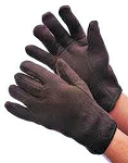 Cotton Jersey Gloves with Red Fleece Lining-Dozen