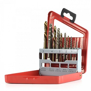 10 Pc Screw Extractor Left Handed Drill Bit Set