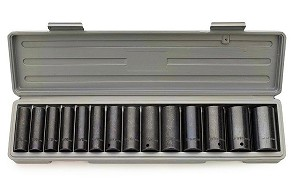 1/2 In. Drive Deep Metric Impact Socket Set
