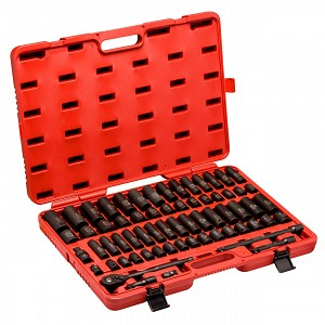 1/2 In. Drive SAE Metric Impact Socket Set