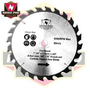 7-1/4 In. 14 Tooth Carbide Tipped Nail Cutter Blade