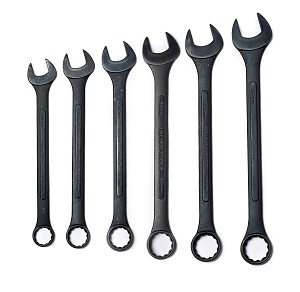 6 PC Metric Jumbo Black Oxide Wrench Set