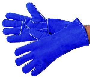 Blue Welding Glove With Kevlar Thread