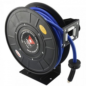 Retracting Hybrid Air Hose Reel-50 ft. x 3/8 in.