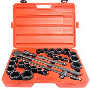 27 Pc 3/4 In. SAE & Metric Impact Socket Set