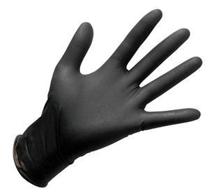 Black Nitrile Gloves-Medium