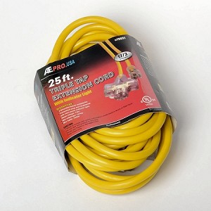 25 Ft. 12/3 Tri Tap Extension Cord