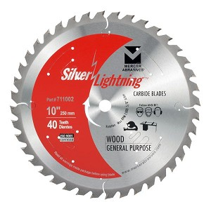 10 In. 40 Tooth Carbide Saw Blade