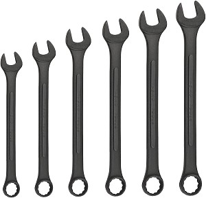 6 Pc SAE Black Oxide Jumbo Wrench Set
