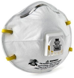 3M Particulate 8210V Respirator with Valve