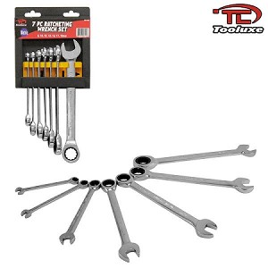 7 PC Ratcheting Wrench Set-Metric