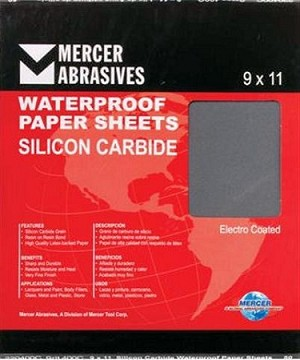 9 x 11 x 800 Waterproof Sanding Sheets-50 Pack