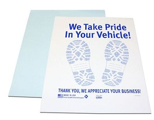 Paper Floor Mats-Poly Backed